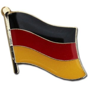 Backwoods Barnaby Germany Flag Lapel Pin/Deutsche Nationalflaggenstift with Gold Clasp by (German broach, 0.75