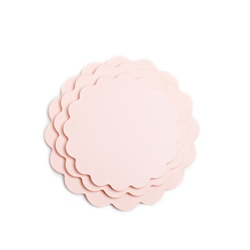 Sugar & Cloth Peach Scallop Melamine Serving Set, 3-Piece ()