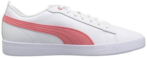 Puma Vrouwen Smash Wns V2 Leertennisschoen Puma Wit-shell Pink