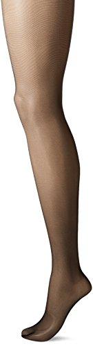 CK Women's Matte Ultra Sheer Pantyhose with Control Top, Black, Size B