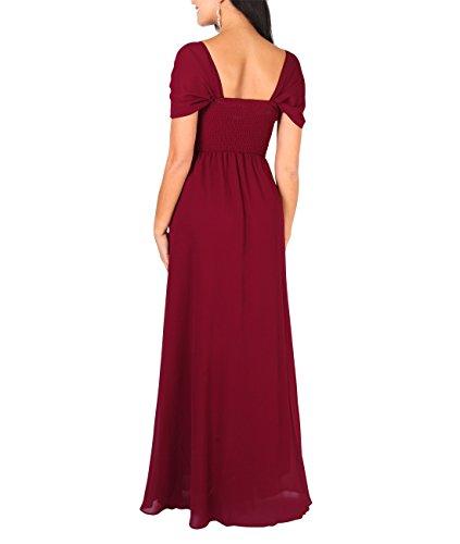 4815 Weinrot Bodenlange KRISP Elegante Damen Abendkleider wR7Xzq