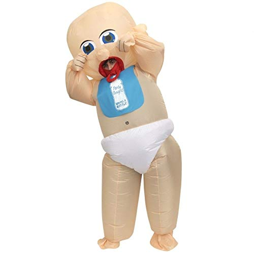 Giant Baby Inflatable Costumes Adult Halloween Fancy Dress Funny Scary -