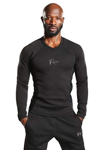 Kutting Weight Men's Neoprene Weight Loss Sauna Shirt Long Sleeve (Black on Black, 2XL) (Best Type Of Sauna)