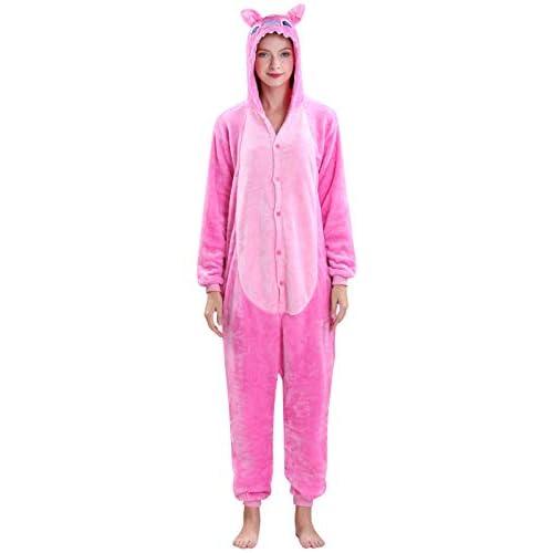 Yimidear Unisex Adult Pajamas Cosplay Costume Animal Onesie Sleepwear Nightwear