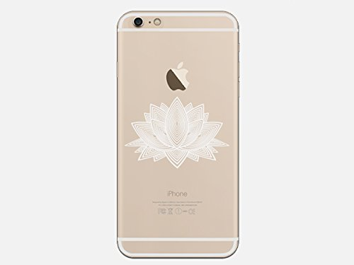 Tribal Lotus Pattern Flower India Henna Tattoo Style Phone Case for the Apple Iphone 7 - Foral Pattern -