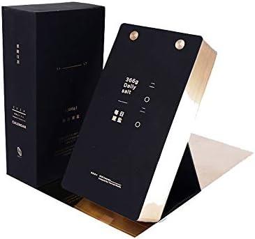 Y-RD Tischkalender Desktop-Kalender, Englisch Vers Countdown, Hand Träne Kalender Geschenk Tischdekoration Geschenke 2020 Desktop-Kalender (Color : Black)