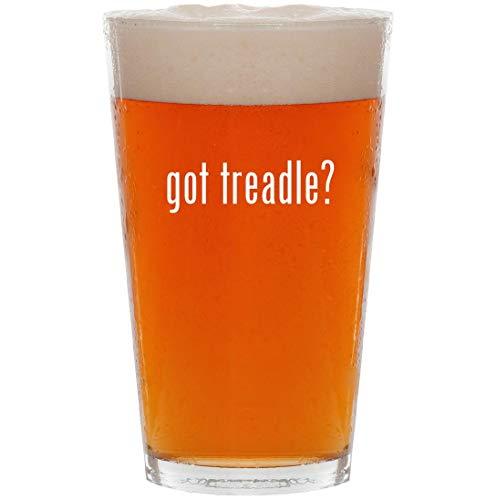 (got treadle? - 16oz All Purpose Pint Beer Glass)