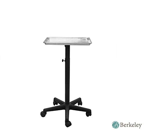 BAILEY Service Tray Silver Rolling Adjustable Multi-Use for Coloring, Tinting, Styling, Salon Service Tray Tattoo or Facial Service Tray by Berkeley (Image #6)