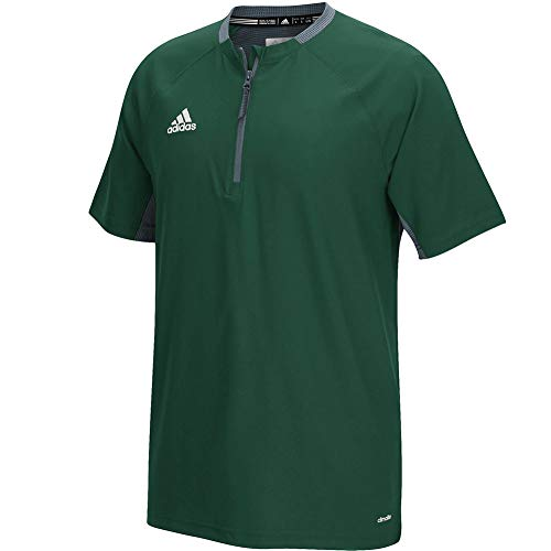 Adidas Men's Climalite Fielder's Choice Cage Jacket, Dark Green/Onix, X-Large