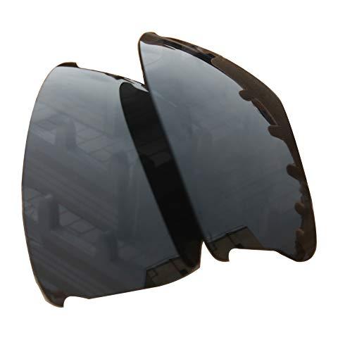 (Polarized Lens Replacement Compatible with Oakley Flak Jacket XLJ Sunglasses Lenses Polarized Black)
