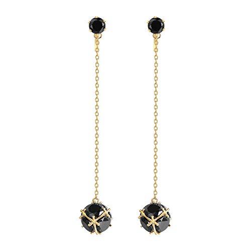 Crystal Linear Drop Earrings - Yoursfs Crystal Linear Drop Earrings for Womens Clip on Round Cubic Zirconia Dangle Earrings