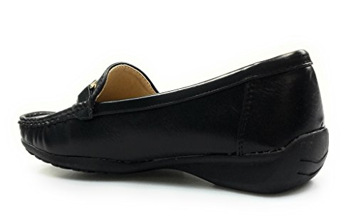 Hazel 7 Leather Pierre Womens Black Comfort Loafers 7 Hazel27 Black Dumas Shoes qWW4FwxE7