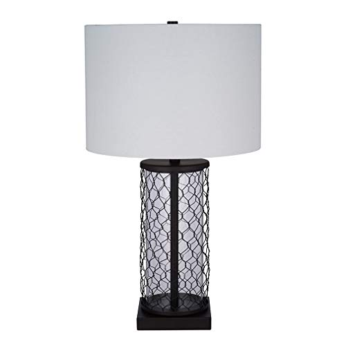 Stone & Beam Wire Cage Table Lamp with Bulb, 16.38
