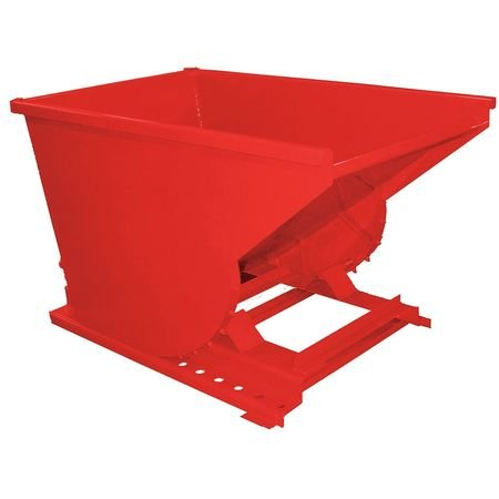 Self Dumping Hopper, Medium Duty, Red