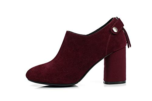 Mms06624 Zapatos Burdeos Para Tacón Mujer 1to9 De Uretano 1OHUqq7