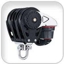 Harken, 75mm Triple Carbo Ratchamatic Block w/Cam Cleat,