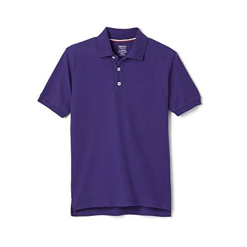 - French Toast Boys' Short Sleeve Pique Polo, Purple, X-Large/18/20/ Husky