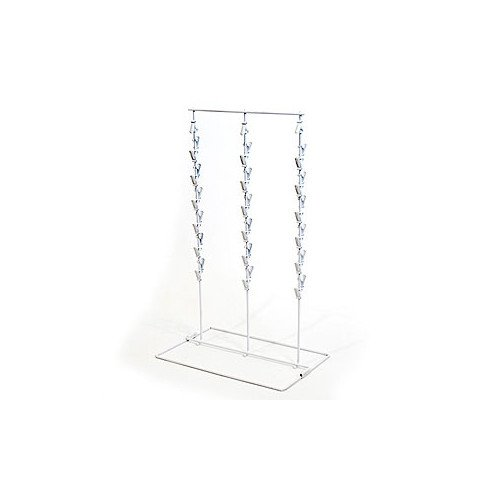 New Retail Countertop White Clip/chip Rack 3-rows 39 Clips