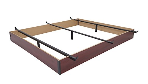 Mantua Queen Wood Bed Base, Cherry Finish - Extend the Life of Any Box Spring and Mattress, Prevent Dust Accumulation Under Beds, Easy Assembly with No Tools Required - Model C75WB50 N