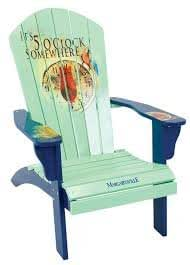 "Nueva Margaritaville Adirondack silla Jimmy Buffet de ""it 's 5 O' Clock Somewhere"""