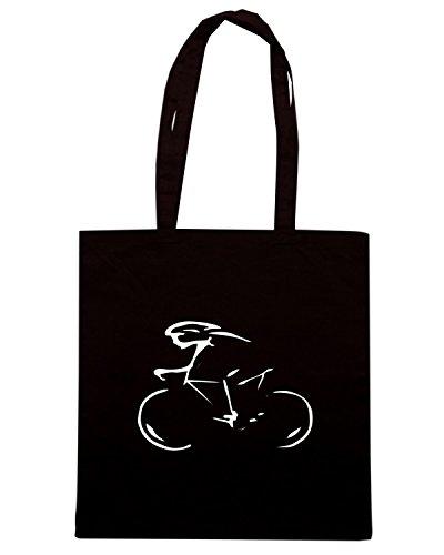 T-Shirtshock - Bolsa para la compra OLDENG00458 cyclist Negro