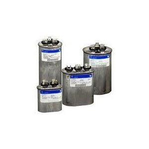 Genteq GE Capacitor round 35/5 uf MFD 440 volt 97F9848 (replaces old GE# Z97F9848BZ2), 35 + 5 MFD at 440 volts