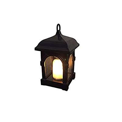 Hanging Solar Lights, Warm Yellow LED Flameless Waterproof Candles Lantern Flickering for Patio Lawn Home Garden Landscape Yard Christmas Decorations,US stock
