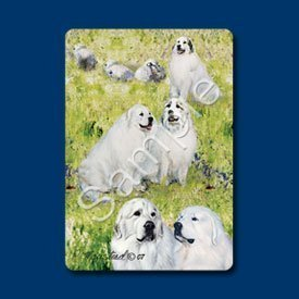 Great Pyrenees Dog Playing Cards - Artwork by Ruth Maystead ()