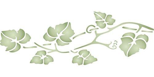 Vine–Plantilla (tamaño 13' de ancho x 11.4cm de alto) reutilizable de pared plantillas para pintar–mejor...