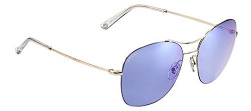 Gucci Women's GG 4253/S Gold Copper/Lilac Mirror Blue
