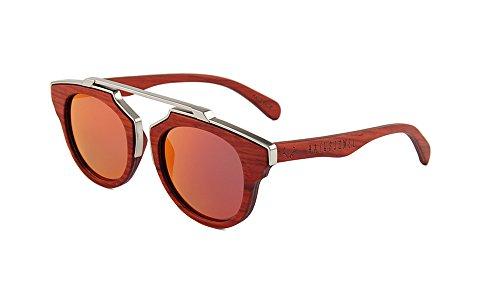 Naturjuwel holz sonnenbrille rot braun polarisiert holzbrille arthur