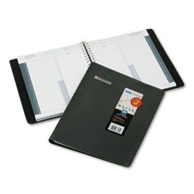 At-A-Glance 70-214-05 24-Hour Appointment Book Ruled 1 Day/page, Hourly Appts, 8-1/2 x 11, Black A-glance Daily Appt Book