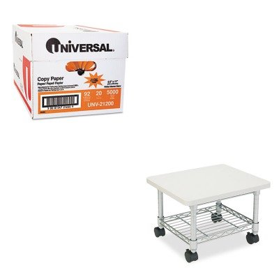 (KITSAF5206GRUNV21200 - Value Kit - Safco Underdesk Printer/Fax Stand (SAF5206GR) and Universal Copy Paper (UNV21200))