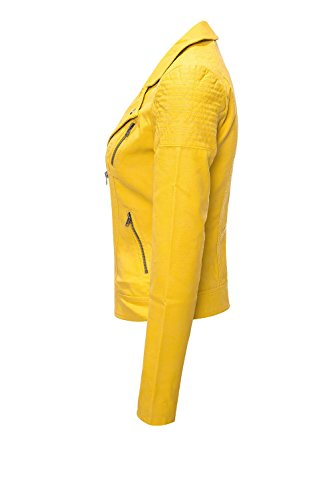 Para Chaqueta Amarillo Leather Only Mujer Faux Otw Cc Biker Onlsteady 0AgvqZ