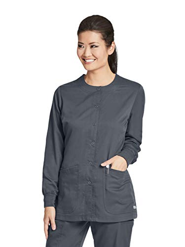 Grey's Anatomy 4450 Warm-Up Jacket Granite XL -
