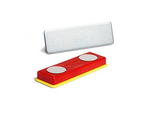mit Magnet, 40 x 75 mm Packung /à 25 St/ück transparent Durable 811619 Namensschild
