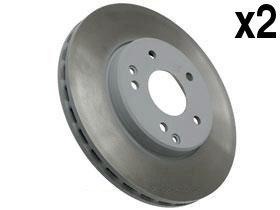 Mercedes w202 w203 Brake Disc Front NOT-Drilled (x2) COAT 'Z' rotors