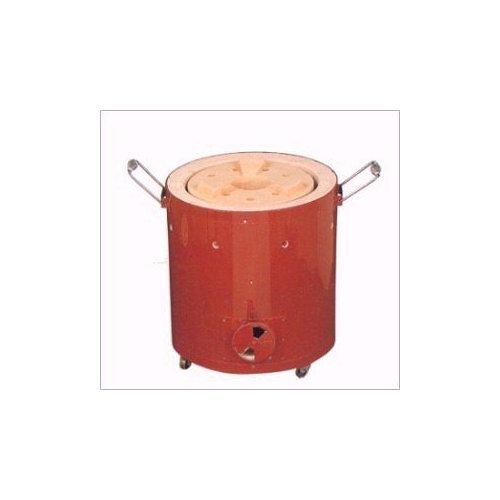 キンカの珪藻土鉄板巻コンロ(七輪)7号 R7-3☆直径320×360mm なつかしいぬくもりの火を B006LW108M