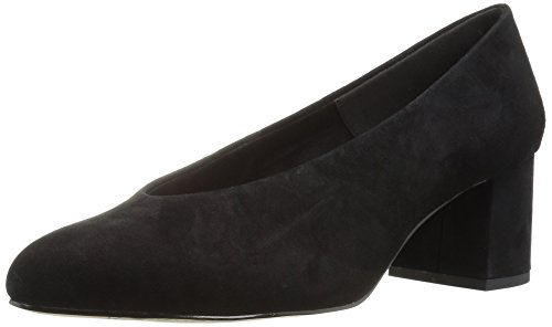 Bella Vita Women's Jensen Dress Pump, Black Suede, 10 M US