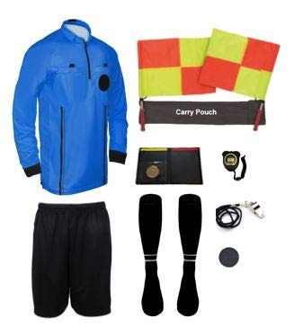 New 11 Piece Pro Soccer Referee Package Full Sleeve