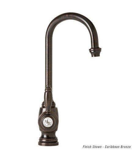 """Waterstone 4900AC Hampton 7"""" C Spout with Built-in Diverter Convenience Prep Faucet, Antique Copper"""