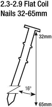 Orange Tacwise HCN65P Cloueur pneumatique /à rouleau 32-65mm 65mm