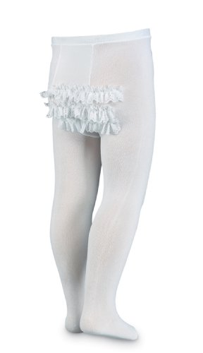 Jefferies Socks Microfiber Rhumba Baby Tight White/White, 6-18 Months