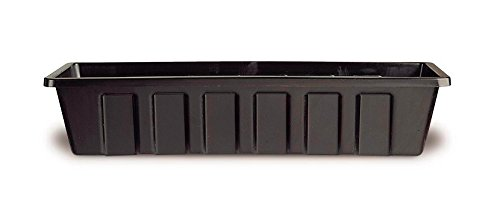 Poly-Pro Plastic Flower Box Planter, Black, 30-Inch