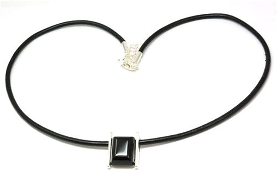 4015a6a4a3b The Olivia Collection Black Onyx Unisex Pendant on Black Cord ...