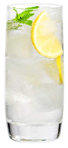 Large Clear Glass Highball Water Beverage Glasses, 19oz. – Set of 6