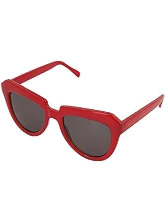 Komono KOM-S2167 Stella Milky Red Composite Frame Grey Lens Oversized Sunglasses