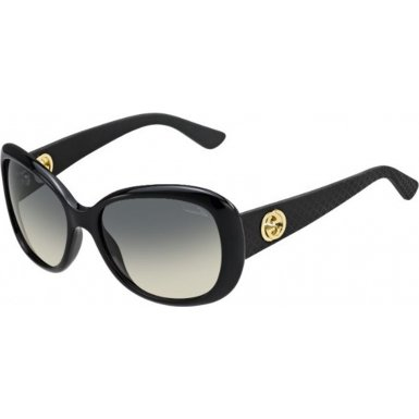 Gucci 3787S LWD Black Rubber 3787S Butterfly Sunglasses Lens Category - Sunglasses With Butterfly Gucci