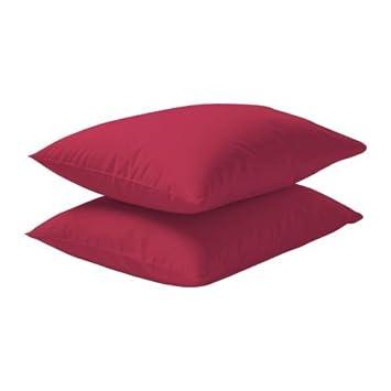 Lot De 2 Taies D Oreiller Dvala De Chez Ikea Couleur Rouge