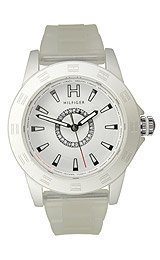 Tommy Hilfiger Semi-transparent Silicone White Dial Women's watch #1781096